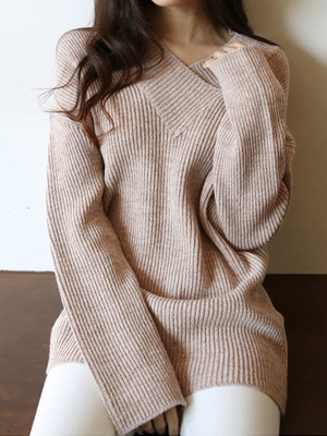 Tennin V-neck Knit (10% OFF)