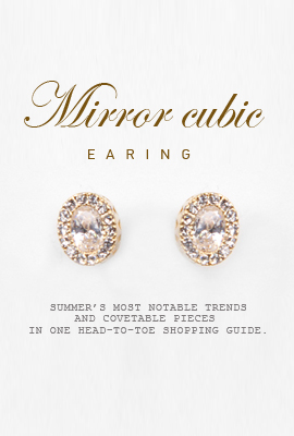 Mirror cubic earring (30% OFF)