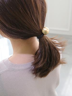 Gold ball hair strap