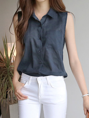 Espresso Sleeveless Shirt