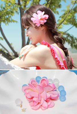 Pink Flower Hairpin