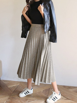 Glitter Pleats Skirt (30% OFF)