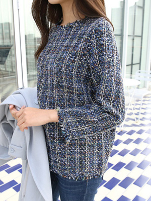 Eriang Tweed Blouse (20% OFF)