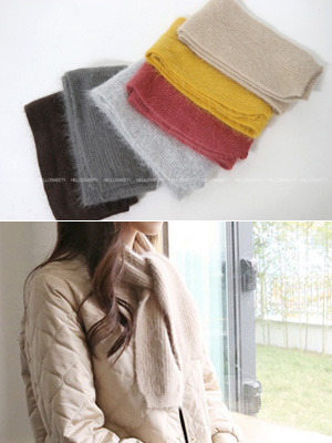 Ghent Angora shawl (6Color)