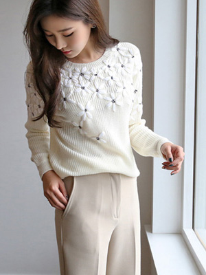 Itchu embroidery Knit (20% OFF)