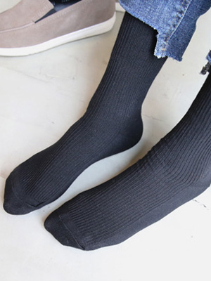 Black Long Socks (2 + 1)