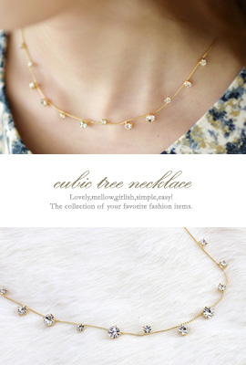 cubic tree Necklace (20% OFF)