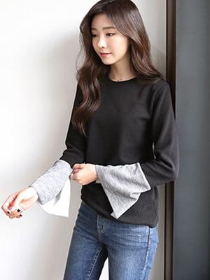 Acoustic color combination T-shirt (30% OFF)