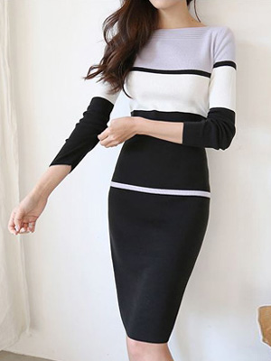 Clarin Boat Neck Knit One Piece (10% OFF)