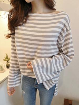 Oh Stripe Off shoulder T-shirt