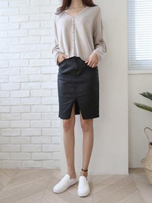 Musil slit coating Skirt (30% OFF)