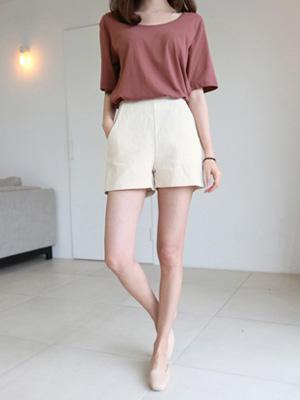 Pretzel Linen Shorts