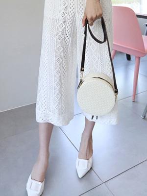 Tambourine Linen Shoulder Bag