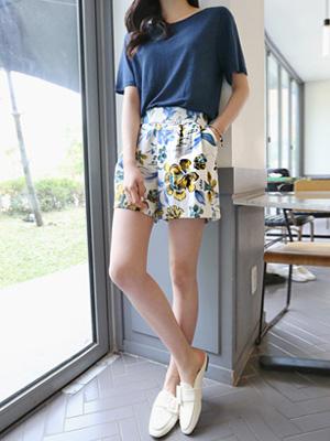 Seren Flower band Shorts