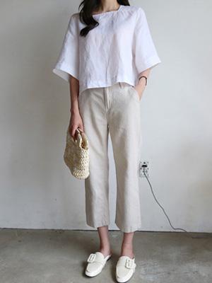 Cotton band Pants