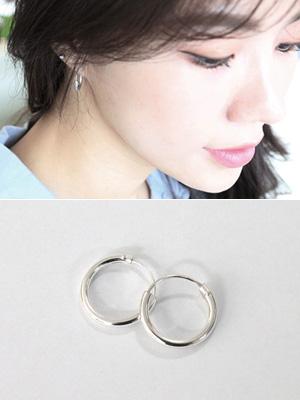 Silver tin circle earring (Silver 92.5%)