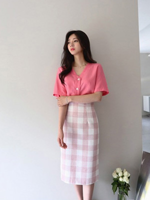 Omote Check Skirt (10% OFF)