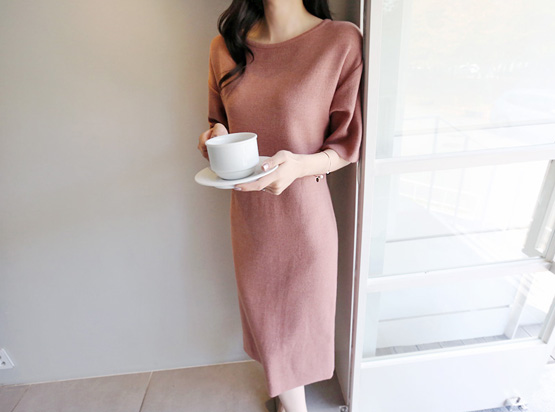 Woman Knit One Piece