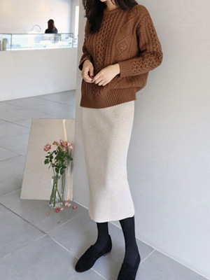 Aaron Knit Skirt (6Color)