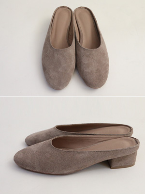 ★ Fitting ★ Skin Suede Mule (4.5cm) (30% OFF) / 245mm