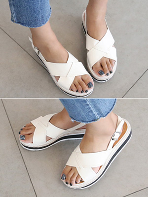 ★ Fitting ★ Toto X Sandals (5cm) (30% OFF) / 225mm