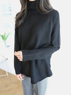 Glitter Turtleneck Knit (7 Color)