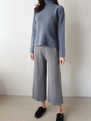 House Star Pin Chip Knit Pants