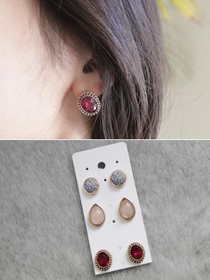 Stony jewelry earring set