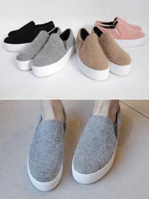Angora Height increase Slip-on Shoes (4cm)