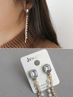 Curive olive earring