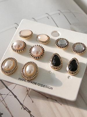 Cubics earring set