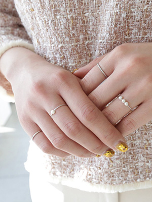 Little pearl ring Set