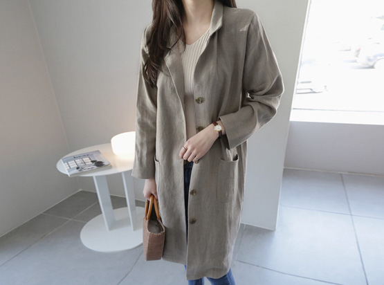 Linen Long Jacket