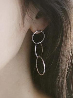 Three rings earring