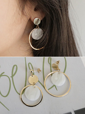 Marble ring earring