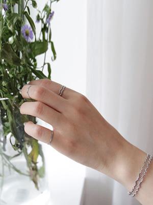Shinny bracelet Ring Set