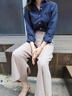 One Pocket Linen Shirt