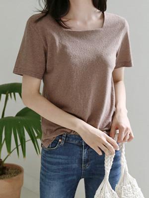 Jovi Linen Square Neck T-shirt