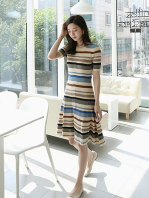 Reel Stripe Knit One Piece