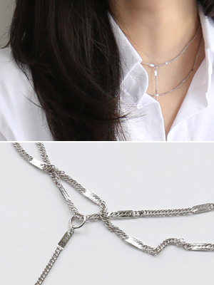 Weibull two lines Necklace