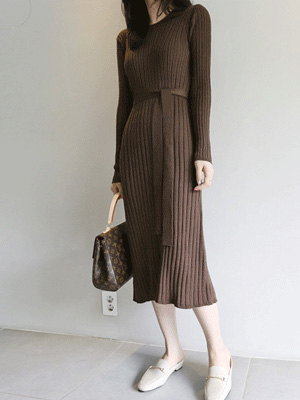 Pei Corrugated Knit One Piece