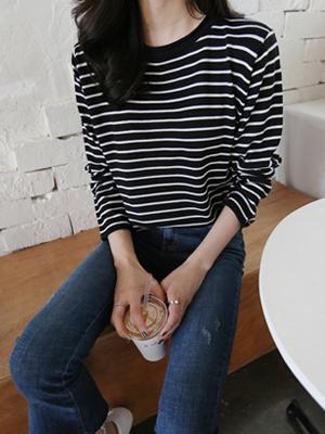 Lap Stripe Knit (5Color)