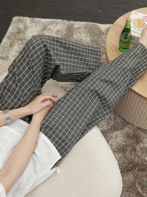 Grid pajamas Couples