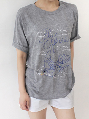 Bird stitch T-shirt (30% OFF)