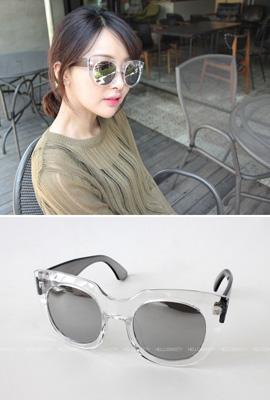 transparent mirror sunglasses