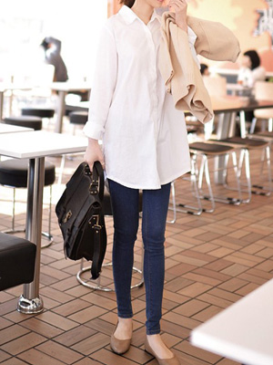 Basic White Long Shirt