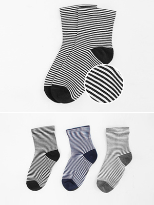 Casual Stripe Socks (2 + 1)