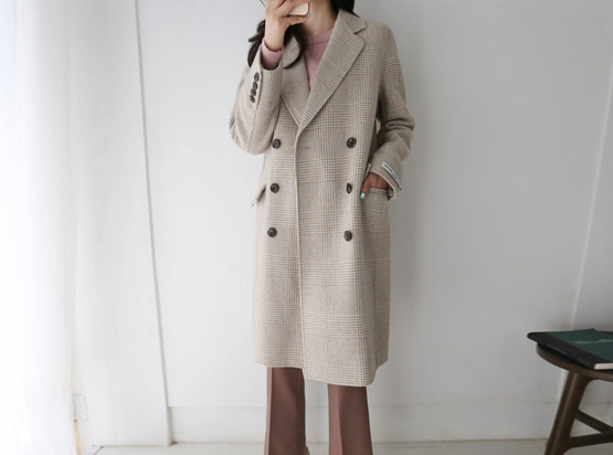 Deep Check Hand Made Coat