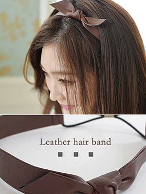Leather bowknot hairband (20% OFF)