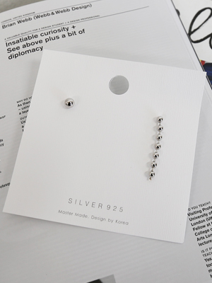 unbalance Silver earring (Silver 92.5%)
